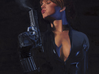 Black Widow with gun