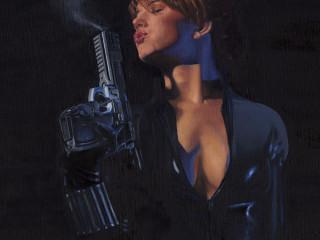 Black Widow with Gun