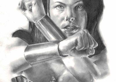 Wonder Woman B&W